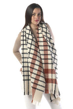 Load image into Gallery viewer, Modern Plaid Oblong Scarf