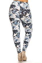 Load image into Gallery viewer, Plus Size Floral Print, Full Length Leggings In A Slim Fitting Style With A Banded High Waist