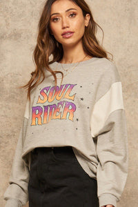 Soul Rider French Terry Knit Graphic Sweatshirt