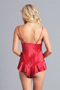 Satin Romper. Slim Fit, Silky Soft, Adjustable Straps