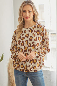 Casual Leopard Print Long Sleeve