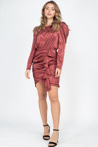 Ruching Front Wrap Mini Dress