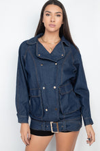 Load image into Gallery viewer, Long Denim Jacket