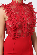 Load image into Gallery viewer, Crochet Lace Combined Bodice Jumpsuit
