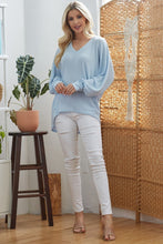 Load image into Gallery viewer, Ribbed V Neck Longsleeve Top