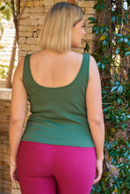 Load image into Gallery viewer, Plus Sleeveless Round Neck With Split Detail Ribbed Top