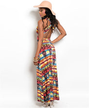 Load image into Gallery viewer, Aztec Print Maxi Dress
