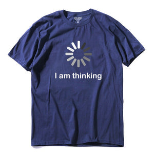 Letters I'm thinking printed men T shirt