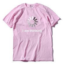 Load image into Gallery viewer, Letters I'm thinking printed men T shirt