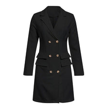 Load image into Gallery viewer, Elegant black women blazer dress