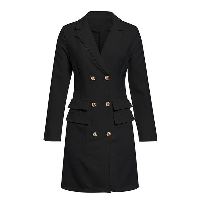 Elegant black women blazer dress