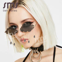 Load image into Gallery viewer, Fashion Rimless Sunglasses Tassel Steampunk