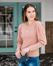 Load image into Gallery viewer, Puff Sleeve Knit Top