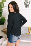 Round Neck Top in Black