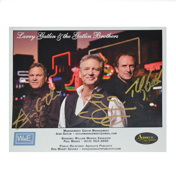 Gatlin Brothers on Broadway 8x10 Autographed Photo