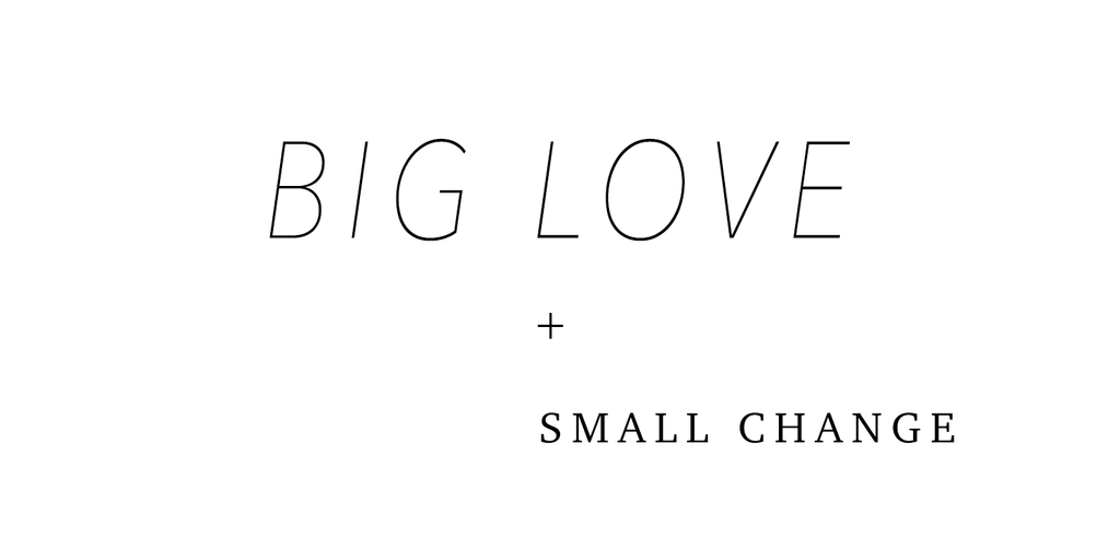 BIG LOVE and Small Change