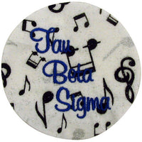Tau Beta Sigma Full Name Embroidered Button