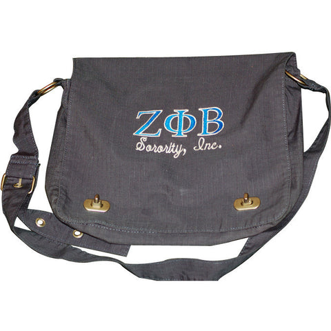 Zeta Phi Beta Messenger Bag