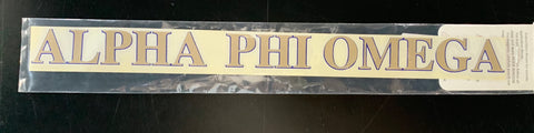 Alpha Phi Omega Horizontal Decal