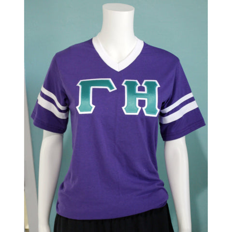 Gamma Eta V Neck Striped Jersey