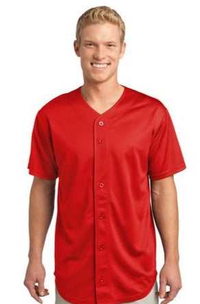 ST220 PosiCharge Tough Mesh Full-Button Baseball Jersey