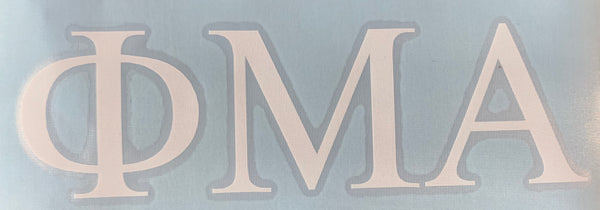 Phi Mu Alpha Block Decal