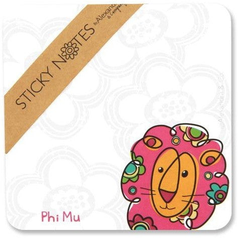 Phi Mu Sticky Notes