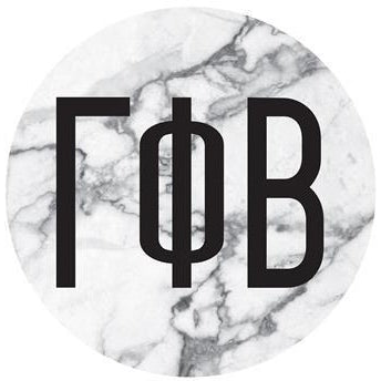 Gamma Phi Beta Marble Bumper Sticker