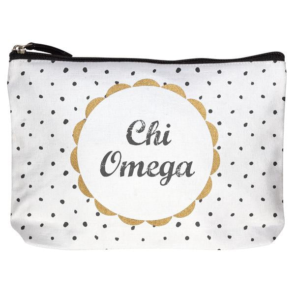 Chi Omega COTTON MAKEUP BAG
