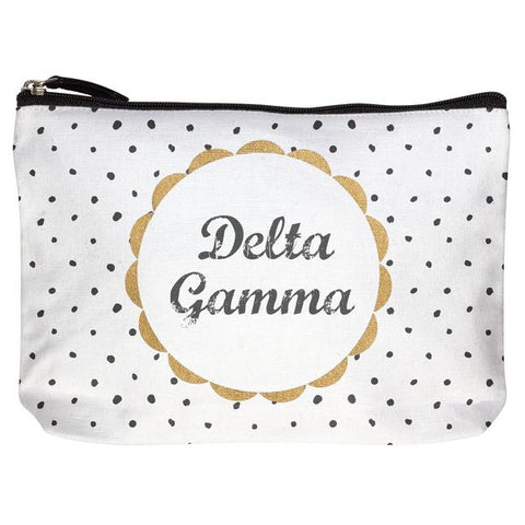 Delta Gamma Cotton Makeup Bag