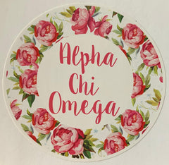 Alpha Chi Omega Vynil Decal
