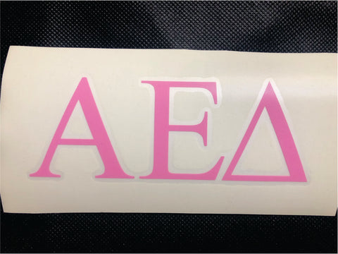 Alpha Epsilon Delta Decal