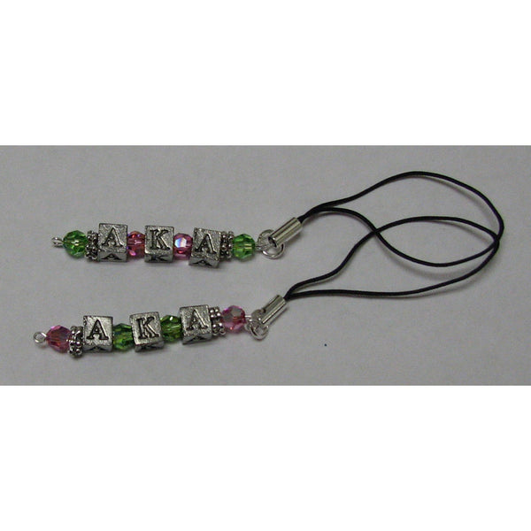 Alpha Kappa Alpha Cell Phone Dangle