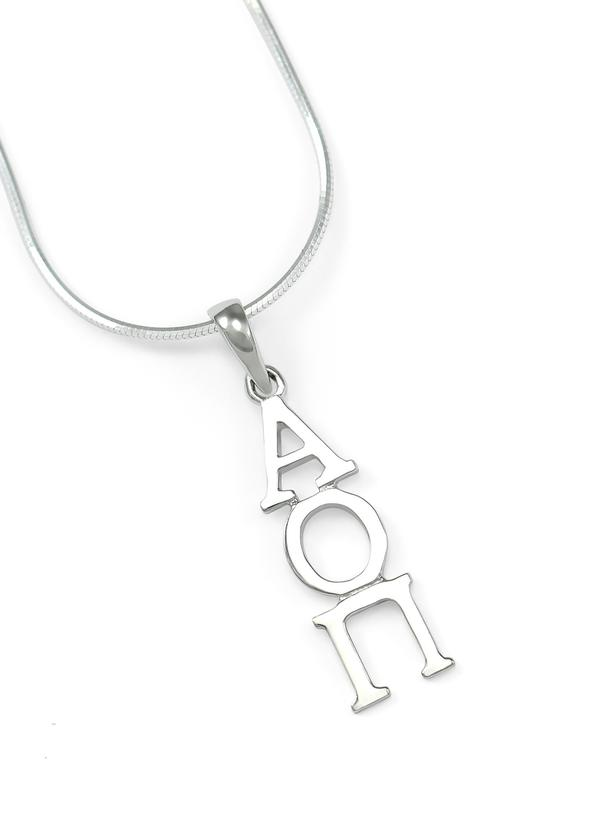 Alpha Omicron Pi Sterling Silver Lavaliere