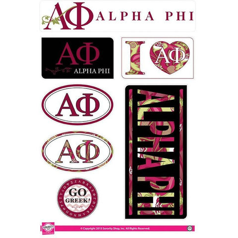 Alpha Phi Lifestyle Stickers