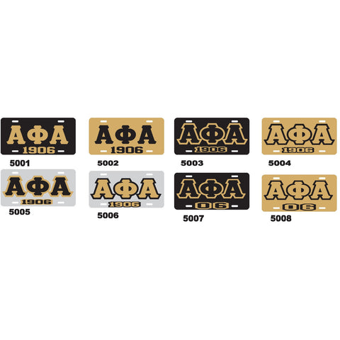 Alpha Phi Alpha-1906 License Tag