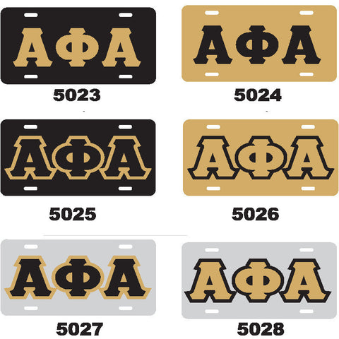 Alpha Phi Alpha License Tag