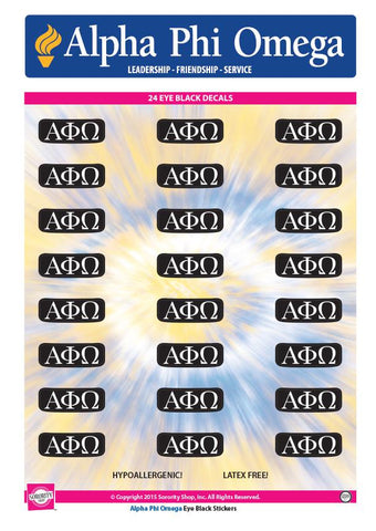 Alpha Phi Omega  Eye Black Decals