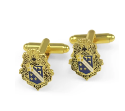 Alpha Phi Omega FRATERNITY CREST CUFF LINKS