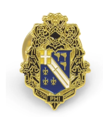 ALPHA PHI OMEGA FRATERNITY CREST PIN