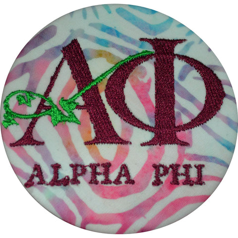 Alpha Phi Limited Edition Custom Emb. Button