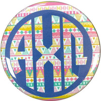 Alpha Chi Omega Tribal Printed Button