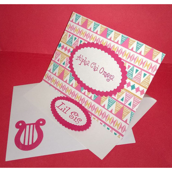 Alpha Chi Omega Tribal Print Cards