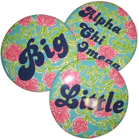 Alpha Chi Omega Lilly Printed Buttons