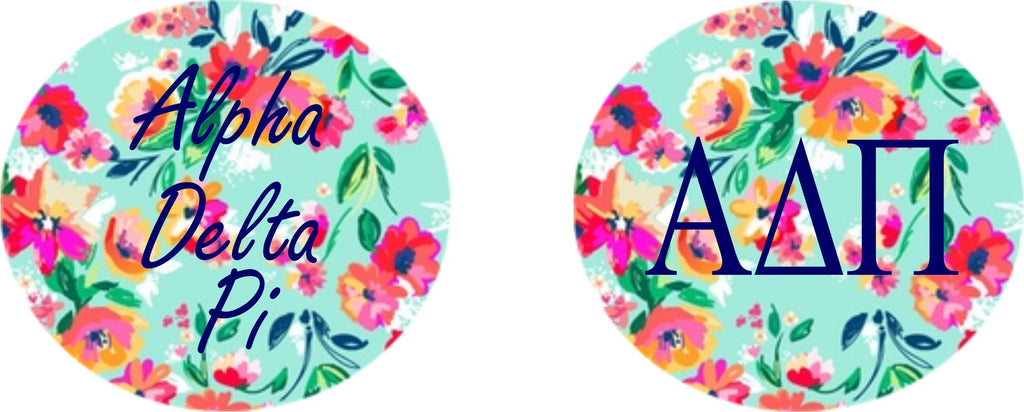 Alpha Delta Pi Floral Printed Button