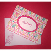 Chi Omega Tribal Print Cards
