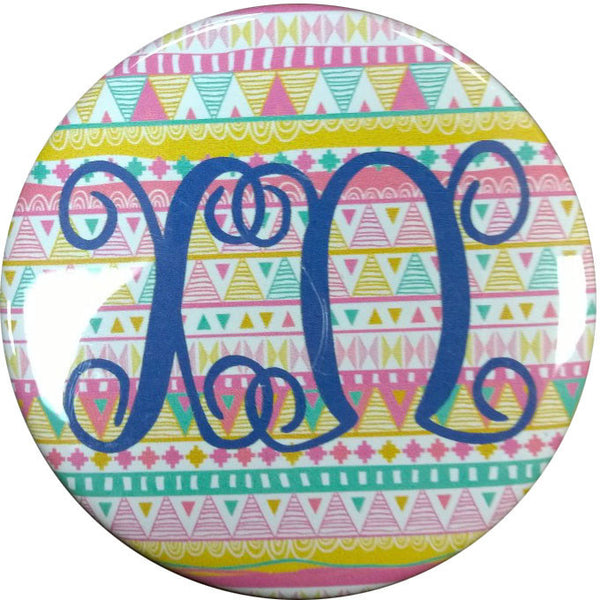 Chi Omega Tribal Printed Button