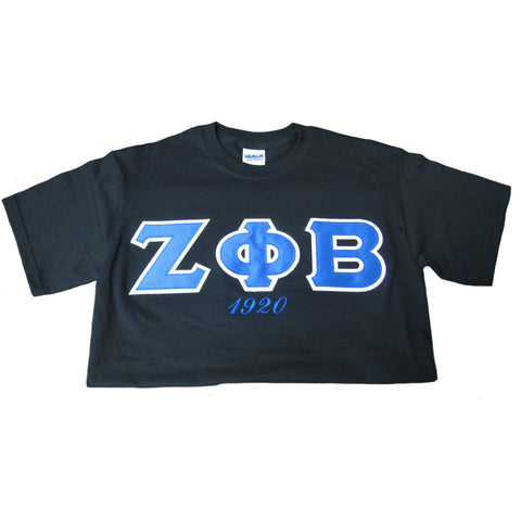 Zeta Phi Beta Embroidered Tee w/year