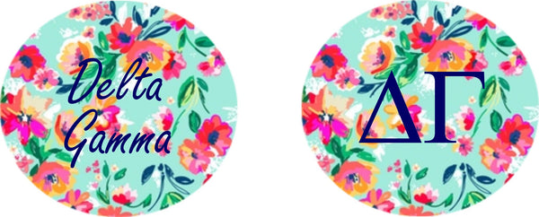 Delta Gamma Floral Printed Button