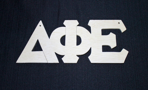 Delta Phi Epsilon Wood Door Deck